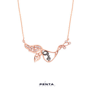 Penta Silver - Flamenko Gümüş Kolye (1)