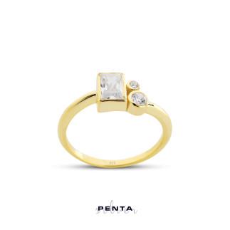 Penta Silver - Geometrik Gümüş Yüzük