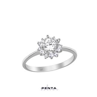 Penta Silver - Gül Motif Gümüş Yüzük
