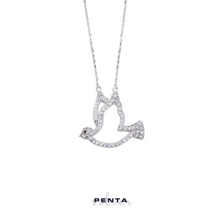 Penta Silver - Güvercin Gümüş Kolye (1)