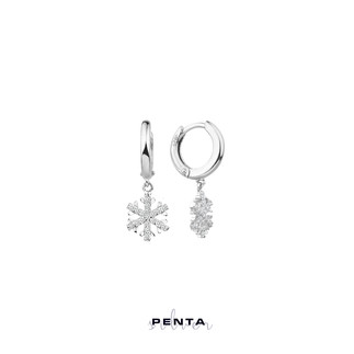 Penta Silver - Hagi Sallantı Kar Tanesi Gümüş Küpe