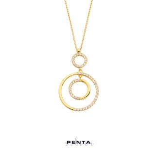 Penta Silver - Halka Denge Gümüş Kolye (1)