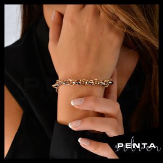 Penta Silver - Hallow Çoklu Zincir Gümüş Bileklik (1)