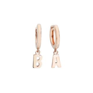 Penta Silver - Harfli Gümüş Küpe