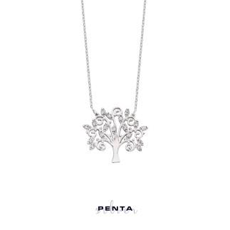 Penta Silver - Hayat Ağacı Gümüş Kolye (1)