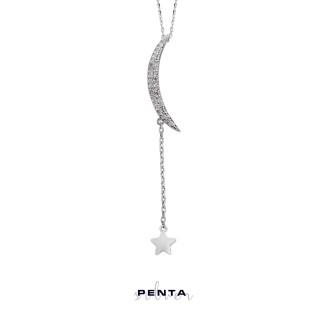 Penta Silver - Hilal Gümüş Kolye (1)