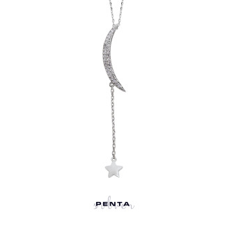 Penta Silver - Hilal Gümüş Kolye