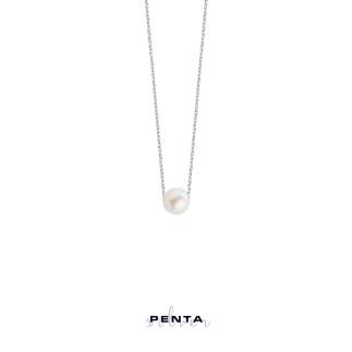 Penta Silver - İncili Gümüş Kolye (1)
