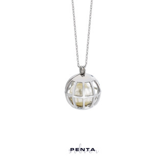 Penta Silver - İncili Kafes Gümüş Kolye (1)