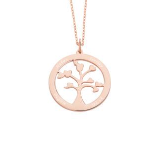 İsimli Hayat Ağacı Gümüş Kolye - Thumbnail