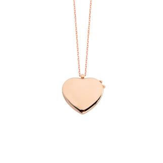 İsimli Kapaklı Kalpli Gümüş Kolye - Thumbnail