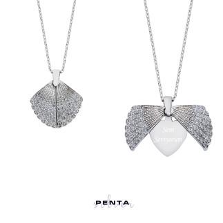 Penta Silver - İstiridye Kabuğu İsimli Gümüş Kolye (1)