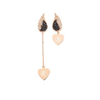 Kalbimdeki Sır Sallantılı Çift Gümüş Küpe - Thumbnail