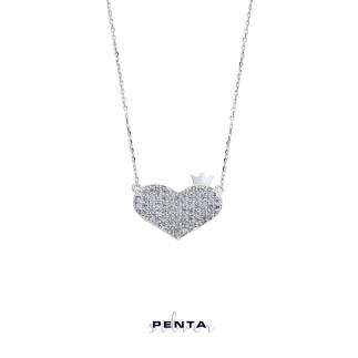 Penta Silver - Kalbimin Baş Tacı Gümüş Kolye (1)