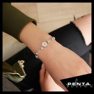 Penta Silver - Kalın Zincirli Aşk Gümüş Bileklik (1)