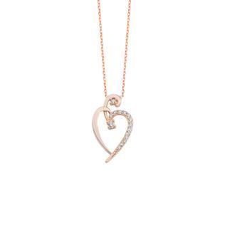 Kalp Gümüş Kolye - Thumbnail