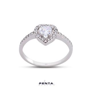 Penta Silver - Kalpli Anturaj Gümüş Yüzük