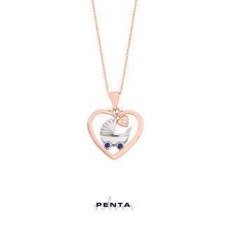 Penta Silver - Kalpli Bebek Puseti Gümüş Kolye