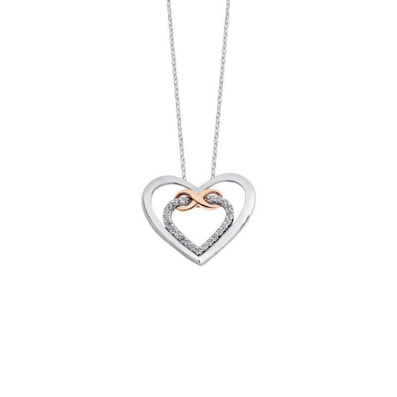 Kalpli Ebedi Aşk Gümüş Kolye
