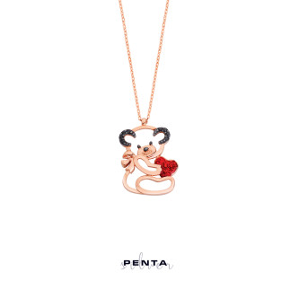 Penta Silver - Kalpli Minik Panda Gümüş Kolye (1)