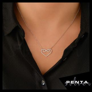 Penta Silver - Kalpli Sonsuzluk Gümüş Kolye