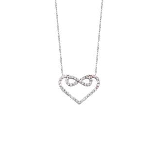 Kalpli Sonsuzluk Gümüş Kolye - Thumbnail
