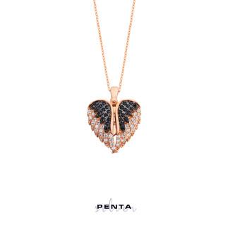 Kalpteki Sır İsimli Gümüş Kolye - Thumbnail
