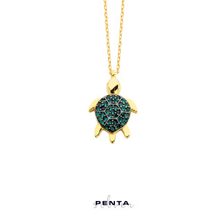 Penta Silver - Kaplumbağa Gümüş Kolye (1)
