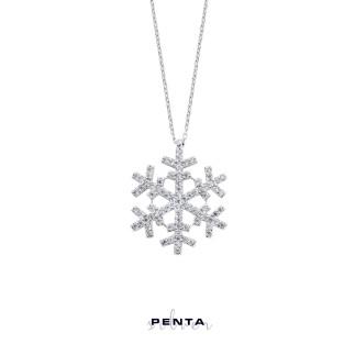 Penta Silver - Kar Tanesi Gümüş Kolye