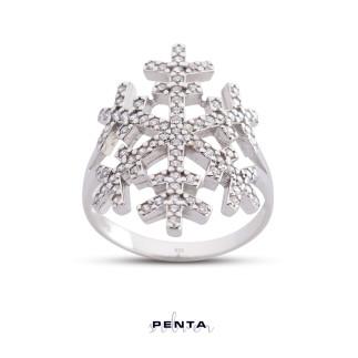 Penta Silver - Kar Tanesi Gümüş Yüzük