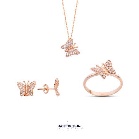 Kelebek Gümüş Takı Seti