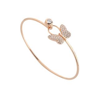 Kelebek Kelepçe Gümüş Bileklik - Thumbnail