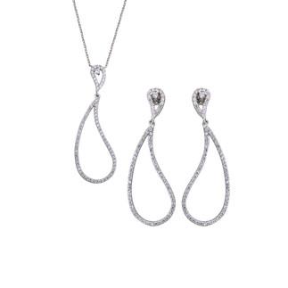 Kıvrımlı Damla Gümüş Takı Seti - Thumbnail