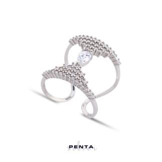 Penta Silver - Kum Saati Damla Gümüş Yüzük