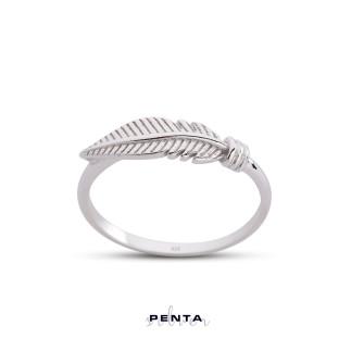Penta Silver - Kuş Tüyü Gümüş Yüzük