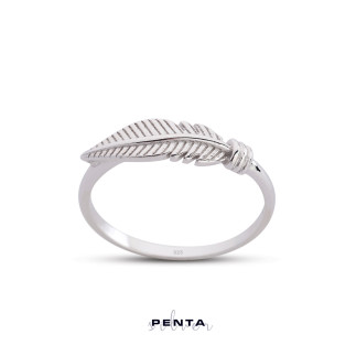 Penta Silver - Kuş Tüyü Gümüş Yüzük (1)