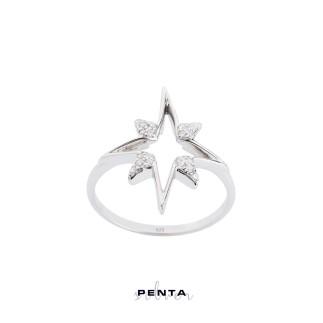 Penta Silver - Kutup Yıldızı Figürlü Gümüş Yüzük