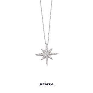 Penta Silver - Kutup Yıldızı Gümüş Kolye (1)