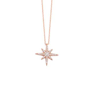 Kutup Yıldızı Gümüş Kolye - Thumbnail