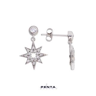 Penta Silver - Kutup Yıldızı Gümüş Küpe