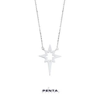 Penta Silver - Levha Kutup Yıldızı Gümüş Kolye (1)