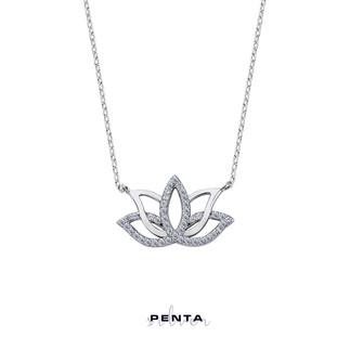 Penta Silver - Lotus Çiçeği Gümüş Kolye (1)