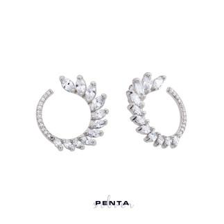 Penta Silver - Markiz Ay Gümüş Küpe (1)
