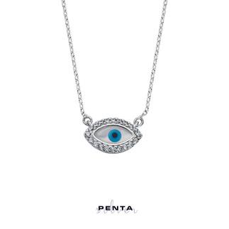 Penta Silver - Markiz Sedef Gözlü Gümüş Kolye (1)