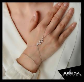 Penta Silver - Markiz Sıra Gümüş Şahmeran Bileklik (1)