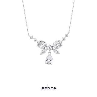 Penta Silver - Markiz Taşlı Damla Abiye Gümüş Kolye (1)