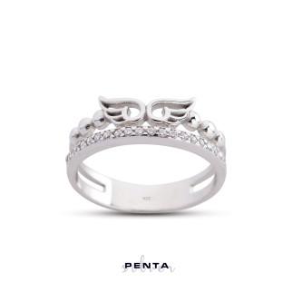 Penta Silver - Melek Kanatlı Gümüş Yüzük (1)
