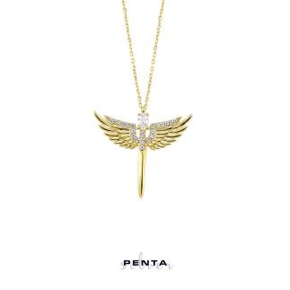 Penta Silver - Mikail Meleği Gümüş Kolye