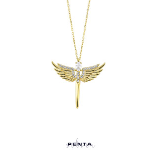 Penta Silver - Mikail Meleği Gümüş Kolye (1)
