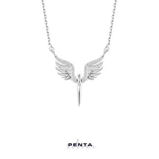 Penta Silver - Mikail Meleği Taşlı Gümüş Kolye